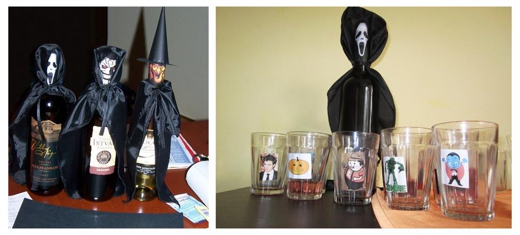 halloween borosüveg ötletek