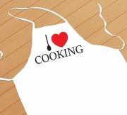 kötény I love cooking