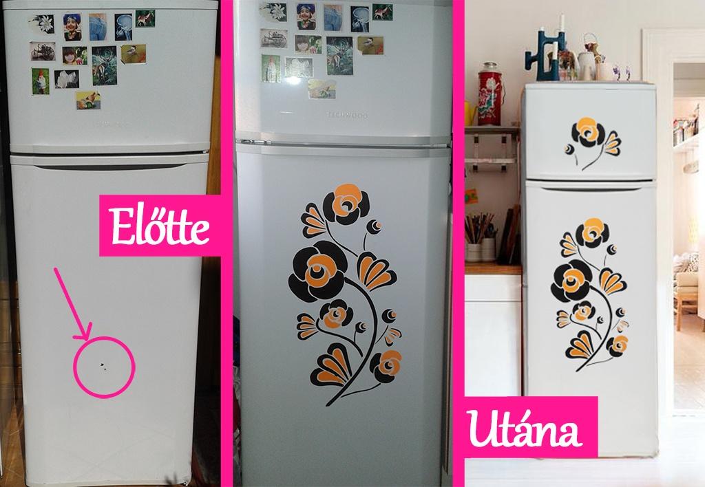 hűtőszekrény matricázás
